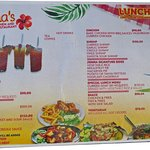 Jemma's menu