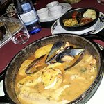 Sole with mussels and prawns