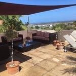 Outdoor lounge terrace