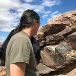 See the petroglyphs on the rocks!