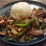 Pad Prik Pao with Beef and Jasmine Rice