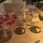 My rhubarb gin and tonic with extras , wonderful. Thank you