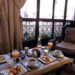 Breakfast brought to our room
