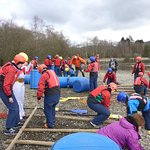 Busy building rafts