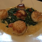 Scallops and spinach