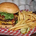 Dinker's - one of their killer-good burgers and fries