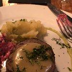 Lamb, mashed potatoes, beet salad
