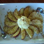 A very special dessert of fresh pears.