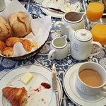continetal breakfast at Hotel du Danube
