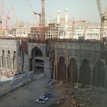 view on the new extension of the holy mosque