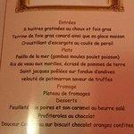 le menu plaisir ...