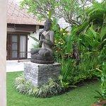 beautiful garden area within the villa