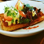 Fantastic brunch with plenty of choice from porridge & granola to Brisket waffle Benedict to the
