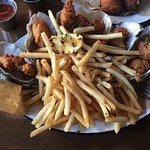 Fried Oysters and French Fries - love the presentation