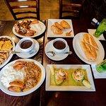 Sandwich Cubano, Empanadas, Rabo Encendido, Pernil, Ropa Vieja, Camarones en Aguacate, Mojito