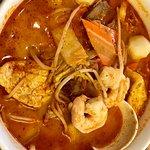 Malaysian Laksa Soup. (spicy)