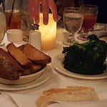 steak potato and broccoli