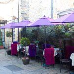 Our lovely new courtyard colour scheme