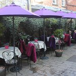 Our lovely courtyard refreshed for the summer!