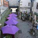 Colourful view from our upstairs tea salon