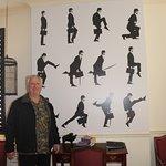 Monty Python room - lots of python graffiti and pics
