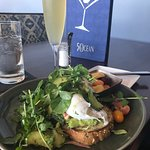 Perfect service and food. Cindy is the best ever!Bottomless mimosas NEVER stopped. Absolutely to