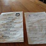 Tap List/Food Menu