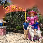 son and grandson with Little Bo Peep