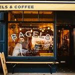 Doggy friendly Bagel shop in Portobello