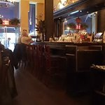Small but accommodating bar = great people watching place to be