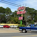parking lot entrance for ZooWorld