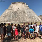 Group on Lawson's excursion to Uxmal.