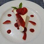 Calamari and cheesecake - yum!