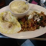 Hippie hash, eggs and grits