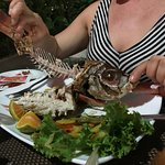 Red snapper dinner (don't forget the other side!)