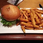 Bison Burger with Endless Fries
