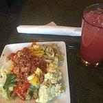 Salad bar plate