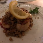 Seared Scallops with Garlic Herb Breadcrumbs