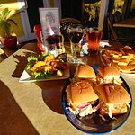 Mahi sliders appetizer is big enough to be a meal. AND they're delicious!