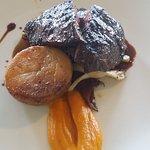 wagyu beef, pumpkin puree, potato fondant