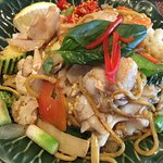 Pad Kee Maow with Fish