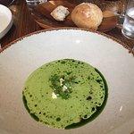 Wild garlic and potato soup