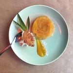 Tarte tatin ananas, sorbet coco