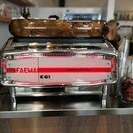 Gianni Frasi kávé Faema géppel főzve.