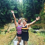 Mom and I at the Blue Hole
