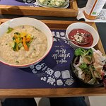 Risotto with side salad and dessert