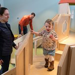 Exploring and learning in the Brain Building Together gallery, for 0-3 year olds