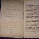 """Johann Sebastian Bach. Canonical variations on the Christmas hymn """"From Heaven from high I come"""