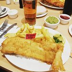 Jumbo Haddock and Chips. As you can see this is gluten free.