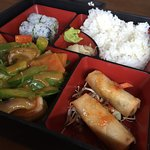 coconut curry shrimp lunch bento box